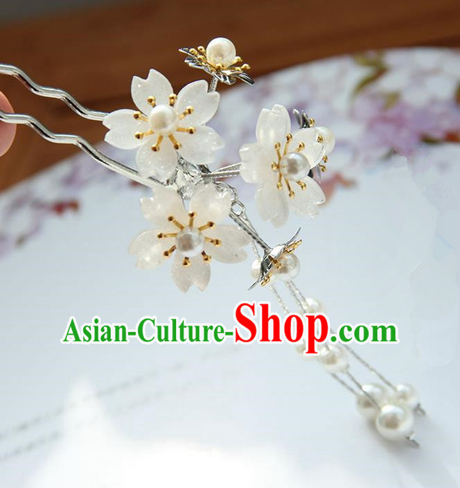 Traditional Handmade Chinese Ancient Princess Classical Accessories Jewellery Hair Sticks Sakura Hair Claws, Hair Fascinators Hairpins for Women