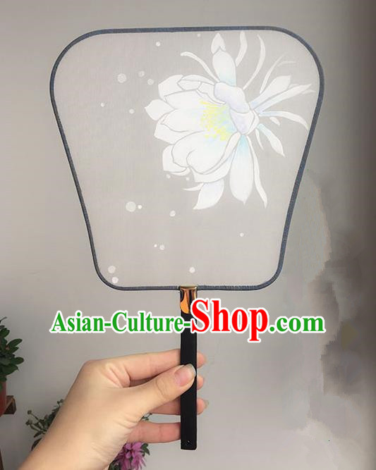 Traditional Handmade Ancient Chinese Tang Dynasty Imperial Princess Painting Palace Lady Hanfu Silk Fan for Women