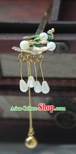 Traditional Handmade Chinese Ancient Princess Classical Hanfu Accessories Jewellery Brass Bells Hair Sticks Hair Step Shake, Tassel Hair Fascinators Hairpins for Women