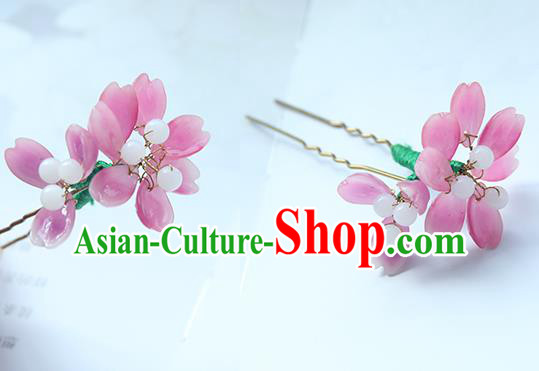 Traditional Handmade Chinese Ancient Princess Classical Hanfu Accessories Jewellery Flowers Hair Sticks Hair Claws, Hair Fascinators Hairpins for Women