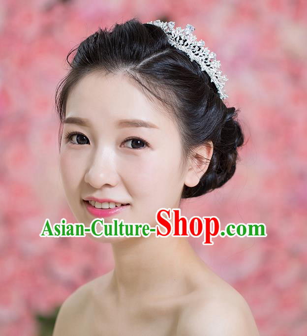 Handmade Chinese Classical Hair Accessories Wedding Hair Sticks Hair Jewellery, Bride Royal Crown Hair Clasp for Women