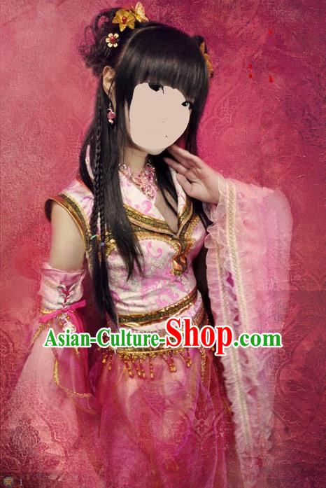 Traditional Ancient Chinese Classical Cartoon Character Uniform Cosplay Palace Lady Game Role Complete Set for Women
