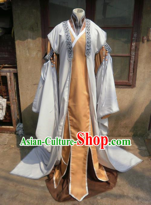Traditional Ancient Chinese Classical Cartoon Character Royal Prince Uniform Cosplay Game Role Qin Dynasty Swordmen Costume Complete Set for Men