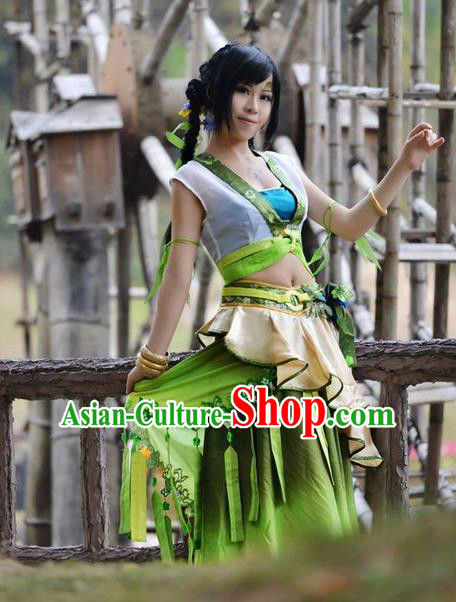 Chinese Cartoon Character Cosplay Costumes Complete Set for Women
