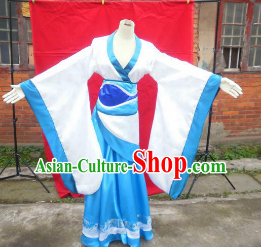 Traditional Ancient Chinese Classical Cartoon Character Fairy Uniform Cosplay Game Role Han Dynasty Swordmen Imperial Princess Costume Complete Set for Women