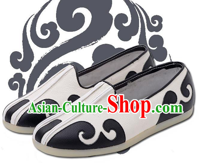 Traditional Chinese Top Kung Fu Shoes Martial Arts Kung Fu Training Taoist Priest Shoe, Tang Suit Gongfu Shaolin Wushu Tai Chi Taiji Teacher Shoes for Men