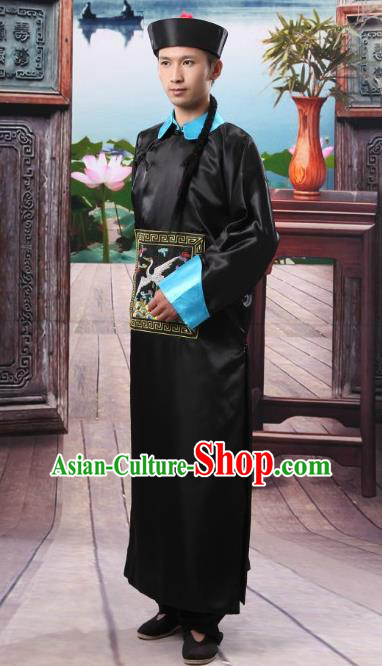 Traditional Ancient Chinese Imperial Minister Costume, Chinese Qing Dynasty Male Dress, Cosplay Chinese Eunuch Clothing for Men