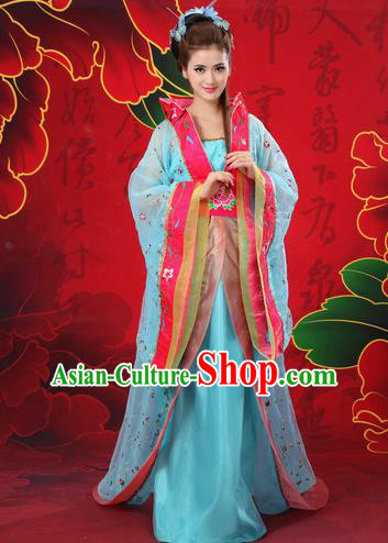 Traditional Ancient Chinese Imperial Emperess Costume, Chinese Tang Dynasty Wedding Dress, Cosplay Chinese Peri Imperial Princess Tailing Clothing Hanfu for Women
