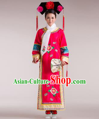 Traditional Ancient Chinese Imperial Emperess Costume, Chinese Qing Dynasty Lady Dress, Cosplay Chinese Man Nationality Peri Imperial Princess Clothing for Women