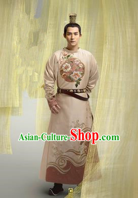 Traditional Ancient Chinese Imperial Emperor Costume, Chinese Tang Dynasty King Dress, Cosplay Chinese Imperial Majesty Embroidered Clothing for Men