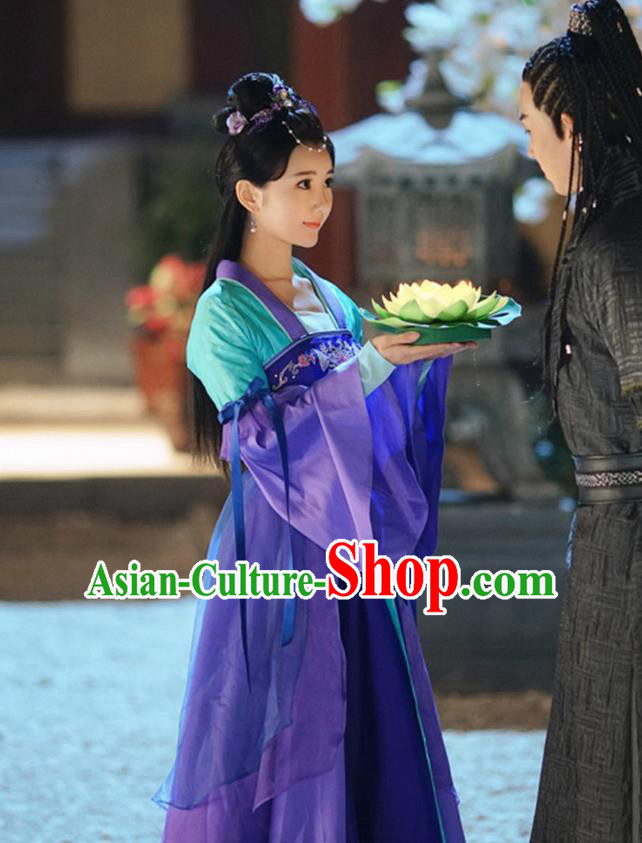 Traditional Ancient Chinese Imperial Princess Costume, Chinese Han Dynasty Dance Dress, Cosplay Chinese Peri Imperial Princess Embroidered Clothing Hanfu for Women