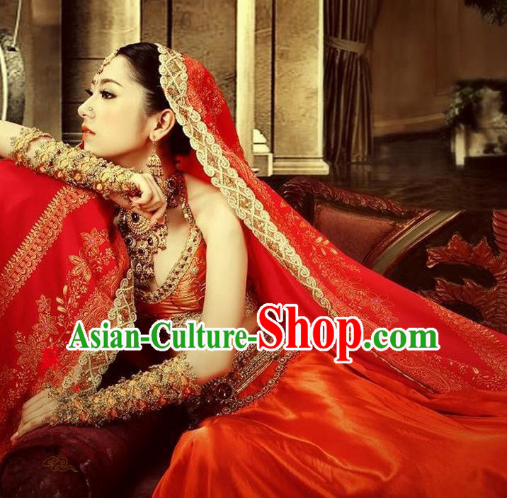 Traditional Ancient Indian Palace Sari Costumes, Indian Young Lady Belly Dance Dress for Women