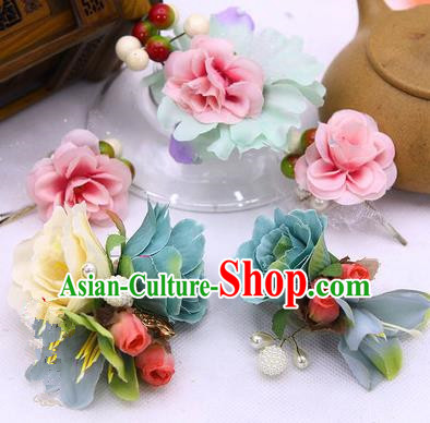 Traditional Handmade Chinese Ancient Classical Hair Accessories Flowers Hairpin, Hair Sticks Hair Claws, Hair Fascinators Hairpins for Women