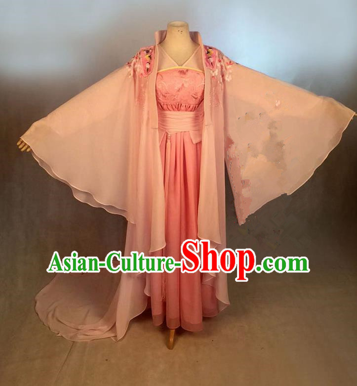 Traditional Ancient Chinese Imperial Emperess Costume, Chinese Han Dynasty Young Lady Dress, Cosplay Chinese Imperial Princess Embroidered Clothing Hanfu for Women