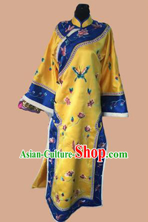 Traditional Ancient Chinese Imperial Emperess Costume, Chinese Qing Dynasty Manchu Lady Dress, Cosplay Chinese Manchu Minority Imperial Consort Clothing for Women
