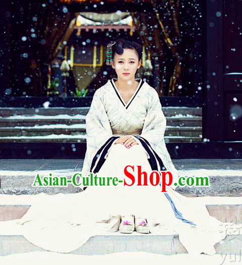 Traditional Ancient Chinese Imperial Consort Costume, Chinese Han Dynasty Young Lady Dress, Cosplay Chinese Imperial Consort Embroidered Clothing Hanfu for Women