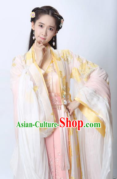 Traditional Ancient Chinese Imperial Princess Costume, Chinese Han Dynasty Young Lady Dress, Cosplay Chinese Imperial Princess Embroidered Clothing Hanfu for Women