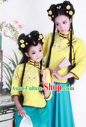 Traditional Ancient Chinese Imperial Princess Costume, Chinese Republic of China Children Dance Dress, Cosplay Chinese Princess Clothing Hanfu for Kids