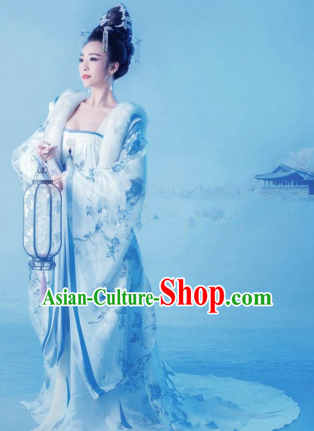 Traditional Ancient Chinese Imperial Emperess Costume, Chinese Tang Dynasty Princess Dress, Cosplay Lady Yang Chinese Imperial Consort Clothing for Women