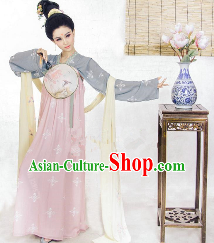 Traditional Ancient Chinese Imperial Emperess Costume, Chinese Tang Dynasty Fairy Dress, Cosplay Lady Yang Chinese Imperial Consort Clothing for Women
