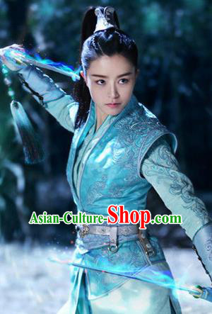 Traditional Ancient Chinese Female Costume, Chinese Ancient Swordswoman Dress, Cosplay Chinese Chivalrous Swordsman Embroidered Clothing for Women