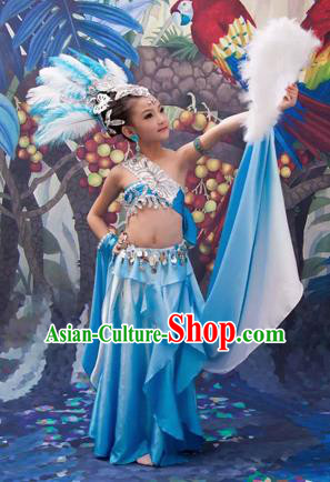 Traditional Ancient Chinese Classic Children Dance Costume, Chinese Folk Dance Girl Dress, Cosplay Chinese Concubine Embroidered Clothing for Kids