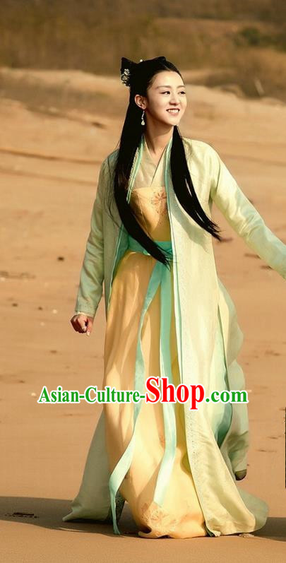 Traditional Ancient Chinese Imperial Princess Costume, Elegant Hanfu Western Wei Dynasty Swordsman Clothing, Chinese Northern Dynasties Aristocratic Lady Clothing for Women