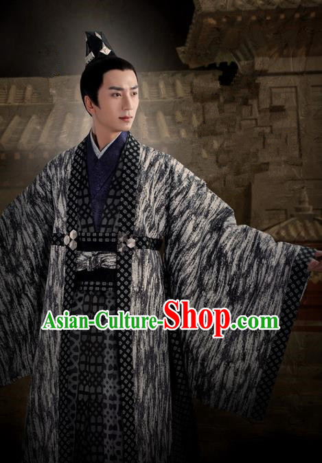 Traditional Ancient Chinese Nobility Childe Costume, Elegant Hanfu Western Wei Dynasty Imperial Prince Robes Swordsman Clothing, Chinese Northern Dynasties Aristocratic Lordling Clothing for Men