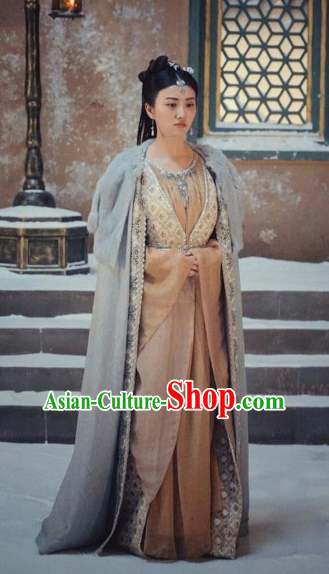 Traditional Ancient Chinese Imperial Empress Costume, Elegant Hanfu Palace Queen Dress, Chinese Tang Dynasty Imperial Princess Tailing Clothing for Women