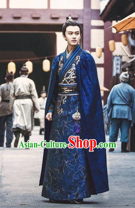 Traditional Ancient Chinese Nobility Childe Costume, Elegant Hanfu Male Lordling Dress, Tang Dynasty Swordsman Clothing, China Imperial Prince Embroidered Clothing for Men