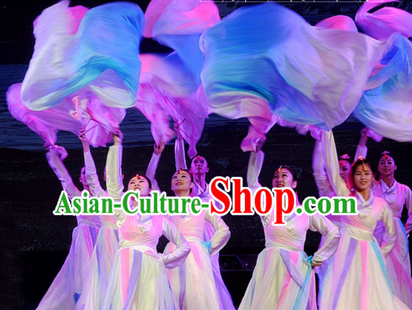 Top Pure Silk 1.5 Meter Long Silk Dance Fan Streamer