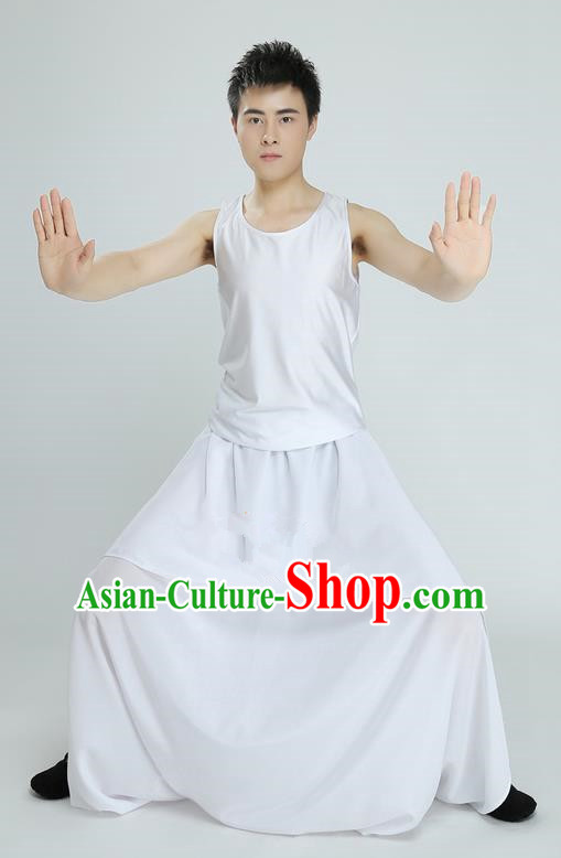 Traditional Chinese Ancient Costume, Folk Dance Drun Dance Kung fu Performance Uniforms, Classic Dance Martial Art Elegant Clothing for Men