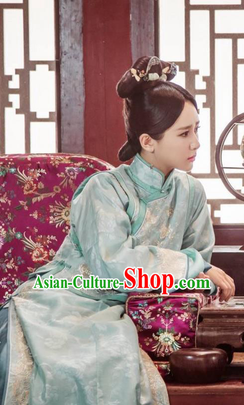 Traditional Ancient Chinese Imperial Princess Costume, Chinese Qing Dynasty Manchu Palace Manchu Nobility Lady Dress, Chinese Legend of Dragon Ball Mandarin Fermale Robes, Ancient China Imperial Consort Embroidered Clothing for Women