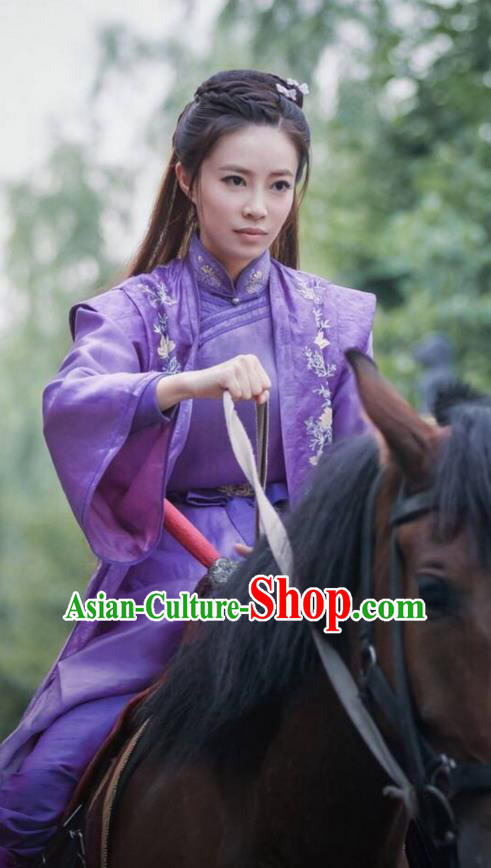 Traditional Ancient Chinese Imperial Princess Costume, Chinese Qing Dynasty Manchu Palace Nobility Lady Dress, Chinese Legend of Dragon Ball Mandarin Fermale Robes, Ancient China Swordsman Embroidered Clothing for Womenn