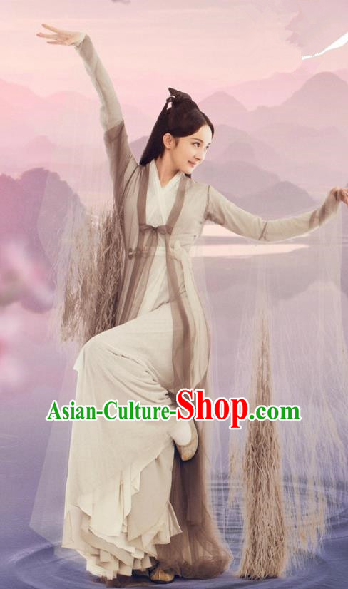 Traditional Ancient Chinese Imperial Empress Costume, Chinese Han Dynasty Young Lady Dress, Cosplay Ten Great III of Peach Blossom Fairy Tale Chinese Peri Imperial Princess Hanfu Clothing for Women