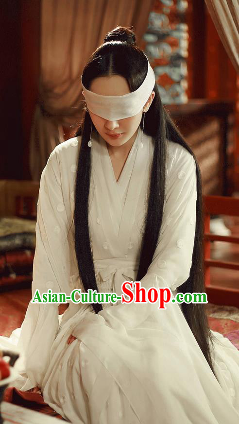 Traditional Ancient Chinese Elegant Costume, Chinese Han Dynasty Young Lady Dress, Cosplay Ten Great III of Peach Blossom Fairy Tale Chinese Peri Imperial Princess Hanfu Clothing for Women
