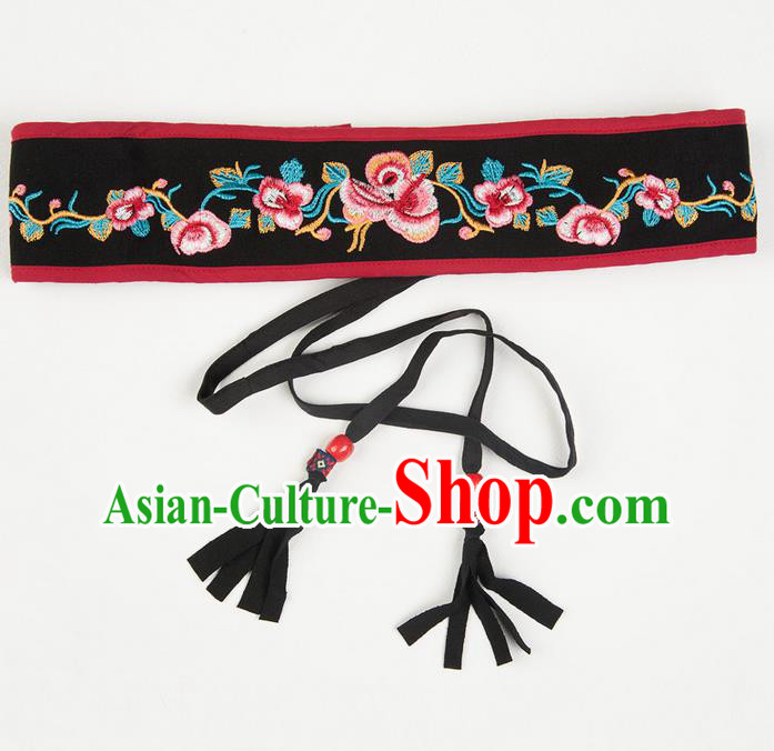 Traditional Chinese National Crafts Female Waistband, Handmade Embroidery Belt Accessories Pendant for Women