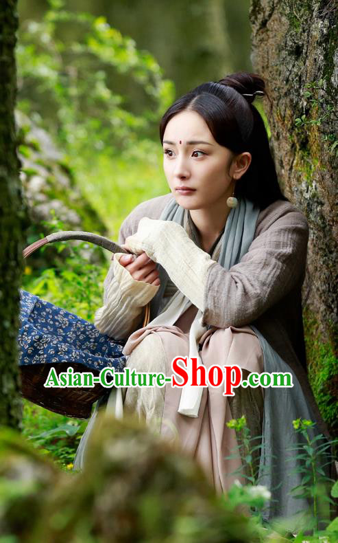 Traditional Chinese Ancient Fairy Costume, Elegant Hanfu Young Lady Dress, China Han Dynasty Countrywoman Tailing Clothing for Women