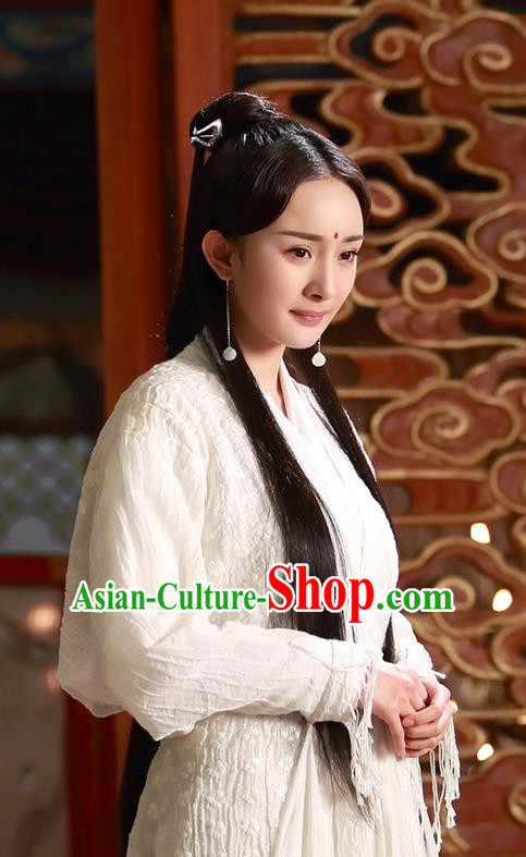Traditional Ancient Chinese Cosplay Myth Fairy Costume, Elegant Hanfu Palace Lady Dance Dress, Chinese Teleplay Ten great III of peach blossom Role Bai qian Han Dynasty Imperial Princess Tailing Embroidered Clothing for Women