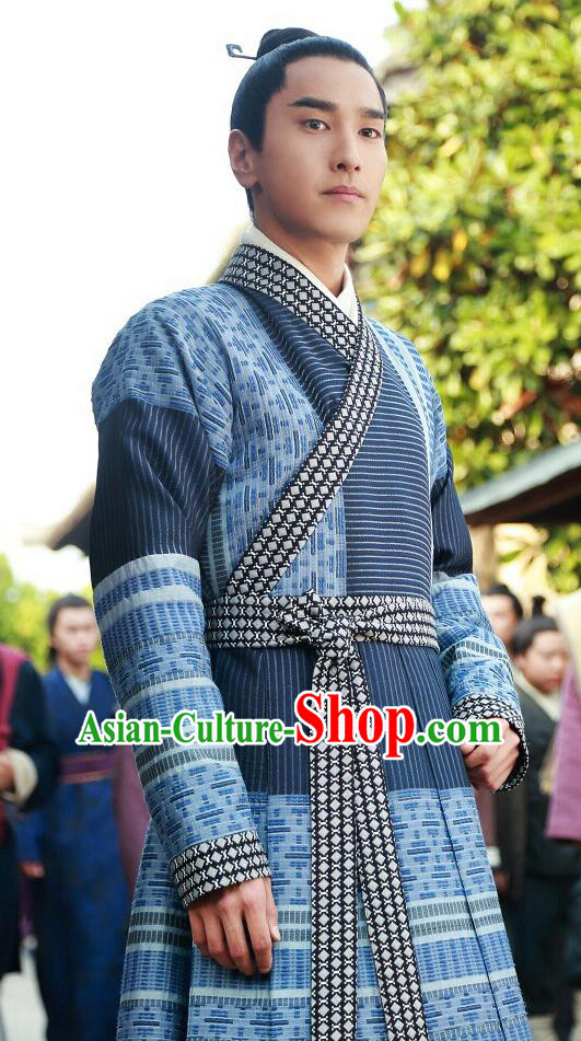 Traditional Ancient Chinese Nobility Childe Costume, Elegant Hanfu Male Dress, Han Dynasty Swordsman Clothing, China Imperial Prince Clothing for Men
