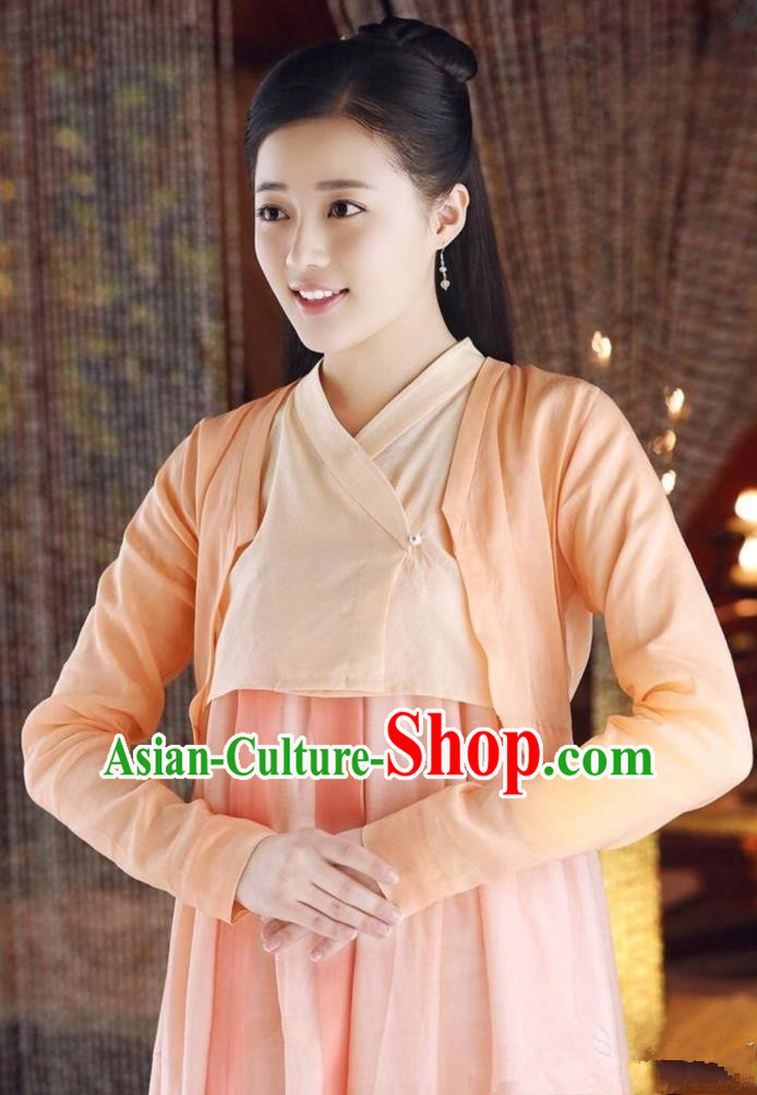 Traditional Ancient Chinese Elegant Costume, Chinese Han Dynasty Palace Lady Dress, Cosplay Ten Great III of Peach Blossom Fairy Chinese Imperial Princess Hanfu Clothing for Women