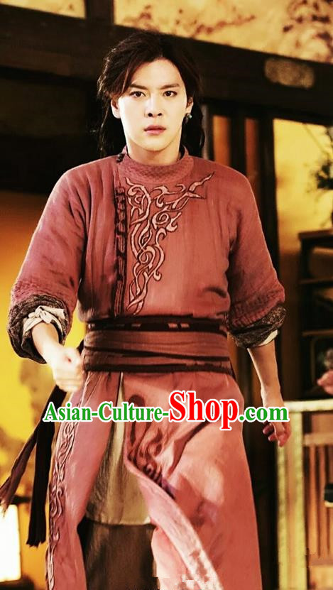 Traditional Ancient Chinese Elegant Swordsman Costume, Chinese Tang Dynasty Detective Jiang Hu Swordsman Robe, Cosplay Detective Samoyeds Nobility Childe Chinese Kawaler Hanfu Clothing for Men