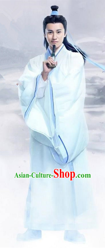 Traditional Ancient Chinese Swordsman Costume, Chinese Han Dynasty Jiang Hu Swordsman Robe, Cosplay Nobility Childe Chinese Bladesman Hanfu Clothing for Men