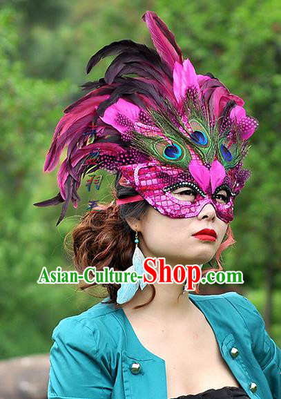 Top Grade Classicla Halloween Feather Mask Stage Performance Props Fancy Ball Masks for Women