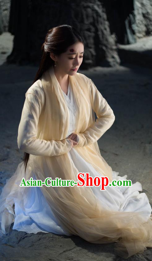 Traditional Chinese Ancient Fairy Costume, Elegant Hanfu Imperial Princess Dress, China Cosplay Palace Princess Tailing Clothing for Women
