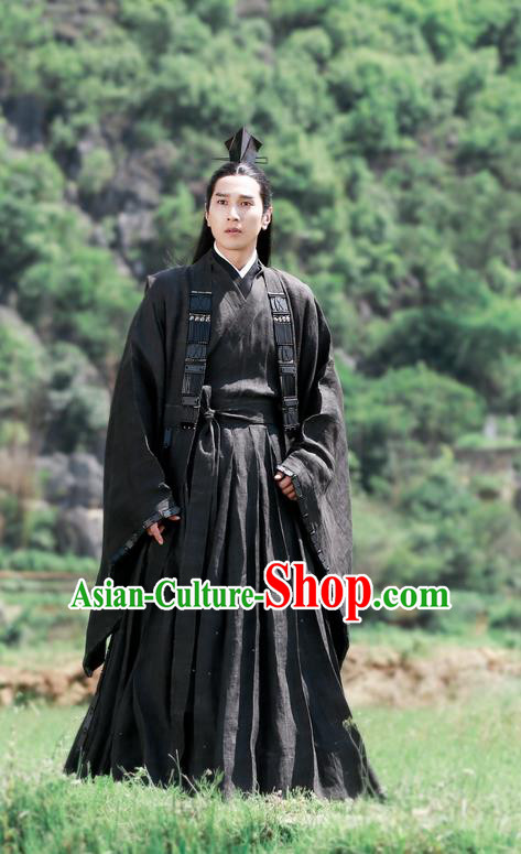 Traditional Ancient Chinese Nobility Childe Costume, Elegant Hanfu Male Lordling Dress, Han Dynasty Swordsman Clothing, China Imperial Crown Prince Embroidered Clothing for Men