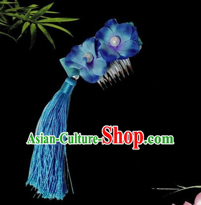 Traditional Handmade Chinese Ancient Classical Hair Accessories, Han Dynasty Barrettes Hairpin, Hanfu Hair Sticks Flower Hair Comb Jewellery, Hair Fascinators Hairpins for Women