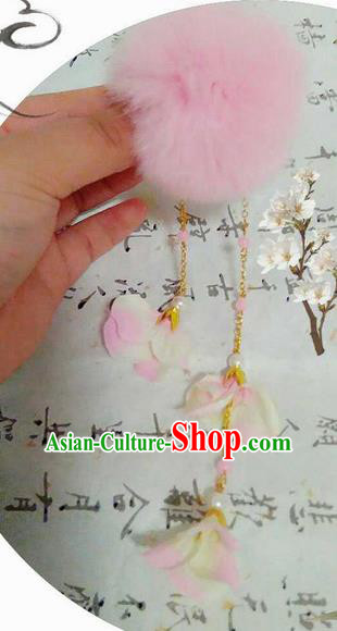 Traditional Handmade Chinese Ancient Classical Hair Accessories, Han Dynasty Barrettes Venonat Hairpin, Hanfu Hair Sticks Tassel Hair Claw, Hair Fascinators Hairpins for Women
