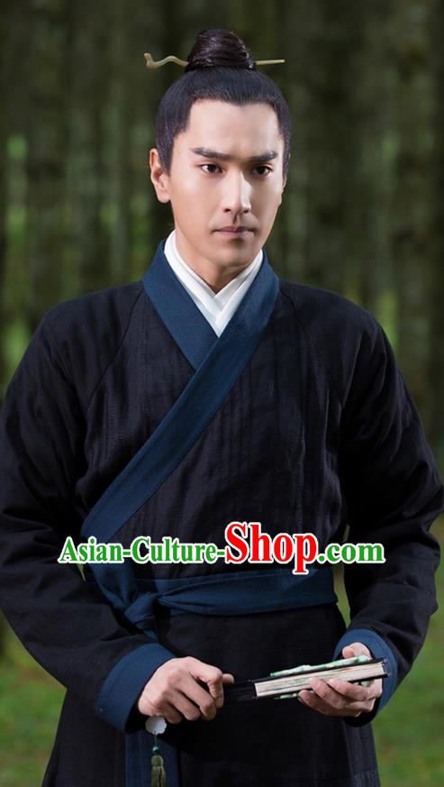 Traditional Ancient Chinese Nobility Childe Costume, Elegant Hanfu Male Lordling Dress, Cosplay Han Dynasty Scholar Clothing, China Swordsman Clothing for Men