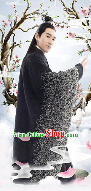 Traditional Ancient Chinese Nobility Childe Costume, Elegant Hanfu Male Lordling Dress, Han Dynasty Swordsman Clothing, China Imperial Crown Prince Wide Sleeve Embroidered Clothing for Men